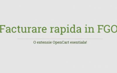 Integrare OpenCart cu FGO